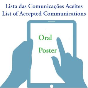 List of Accepted Abstracts (oral and poster)